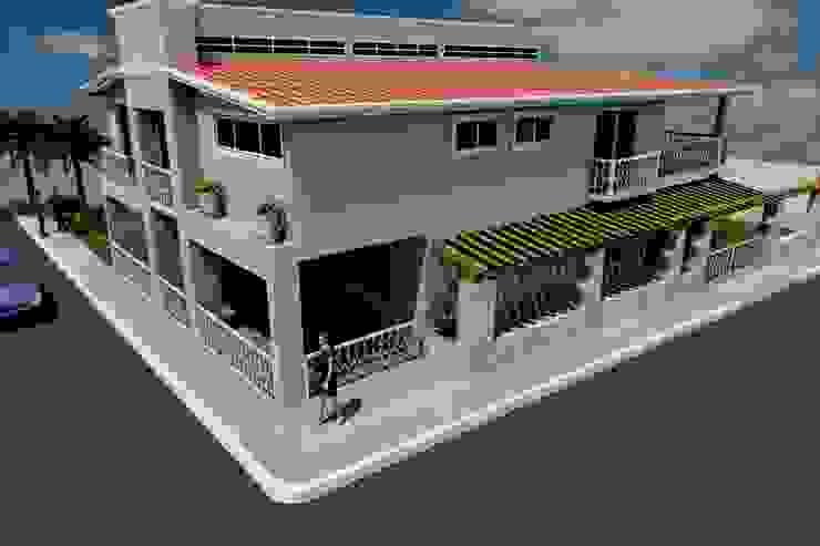 fachada principal Casas eclécticas de M4X Ecléctico Concreto reforzado