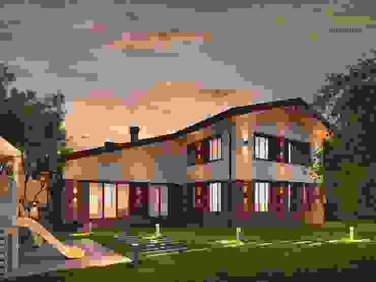 Casas de estilo clásico de Компания архитекторов Латышевых 'Мечты сбываются' Clásico