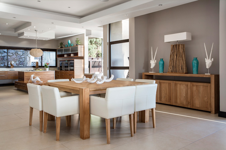 Wonderful in wood Modern dining room by FRANCOIS MARAIS ARCHITECTS Modern
