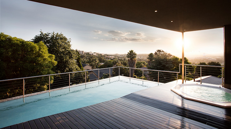 Home on a hill:  Pool by FRANCOIS MARAIS ARCHITECTS,
