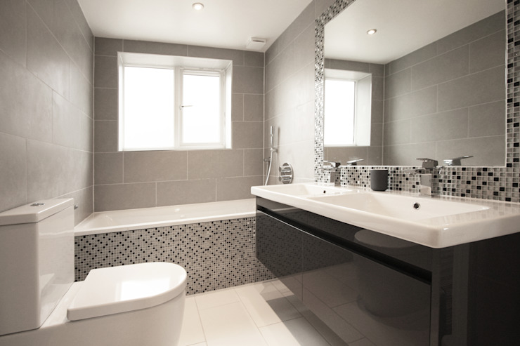 Residential Refurbishment in Edgware Modern Bathroom by RS Architects Modern