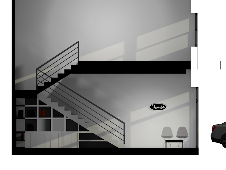 Recepção Empresa de Calçado Espaços de trabalho minimalistas por Traço M - Arquitectura Minimalista