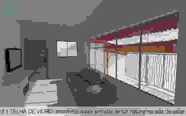 Telha de Vidro Salas de estar modernas por Ecoeficientes Moderno
