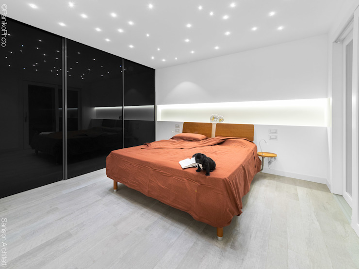 Dormitorios minimalistas de SANSON ARCHITETTI Minimalista