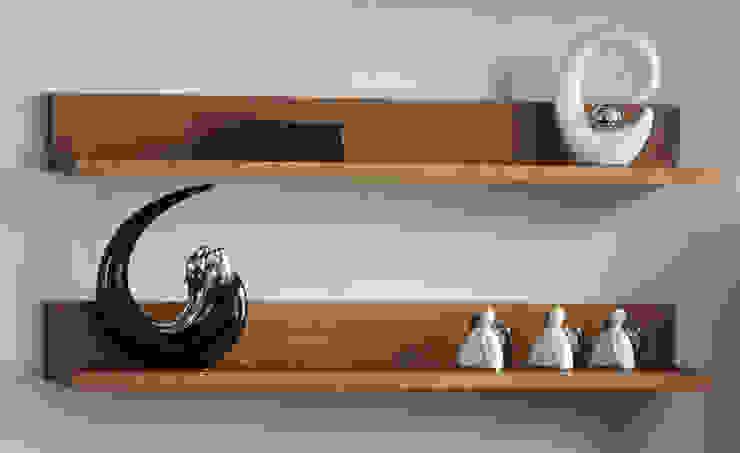 Półki Genua - lite drewno: styl , w kategorii Salon zaprojektowany przez Woodica