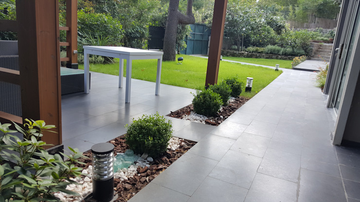 Tuin door abelia peyzaj, Modern