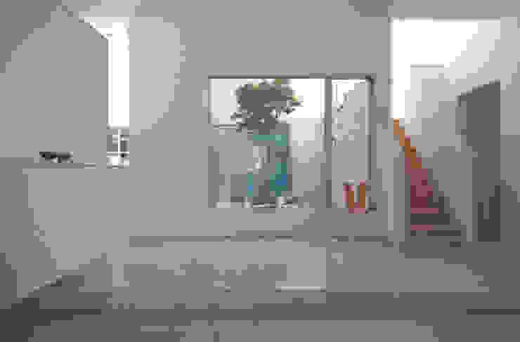 TWO TONE | 高級注文住宅 Mアーキテクツ|高級邸宅 豪邸 注文住宅 別荘建築 LUXURY HOUSES | M-architects モダンスタイルの 玄関&廊下&階段 石 白色