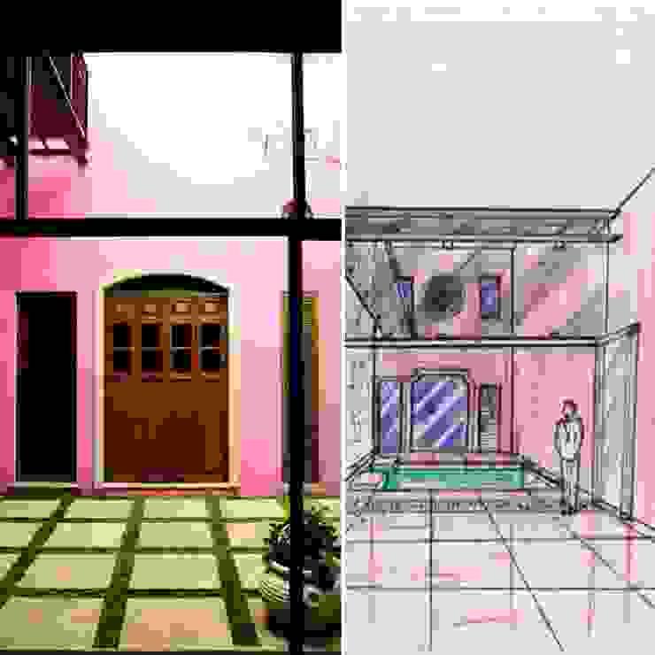 Proyecto casa calle 70 x 51 Barrio de Santiago Casas modernas de Maya Arquitectura Construccion Moderno