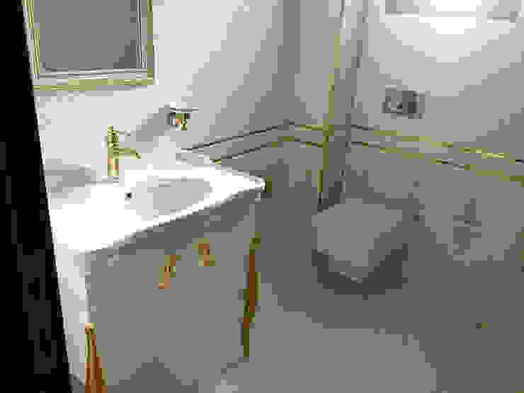 Mandalin Dizayn – İstanbul Ömerli Riverside Evleri Villa Projesi:  tarz Banyo