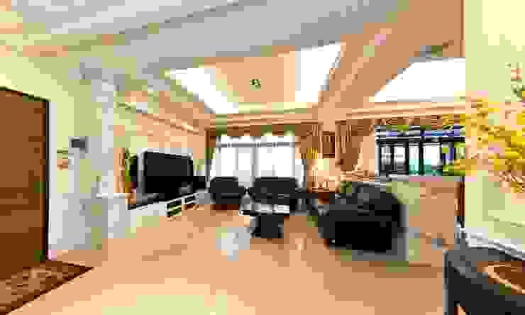 綠意簇擁的新古典宅 根據 錠揚設計有限公司 古典風