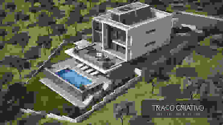 Moradia Unifamiliar - Famões - Odivelas Casas modernas por Traço Criativo, Arquitetura, Planeamento e Design, Lda Moderno