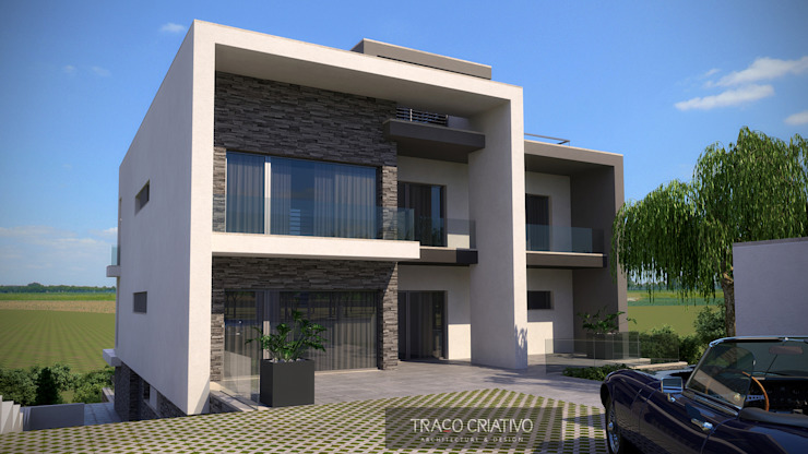 Moradia Unifamiliar – Famões – Odivelas Casas modernas por Traço Criativo, Arquitetura, Planeamento e Design, Lda Moderno