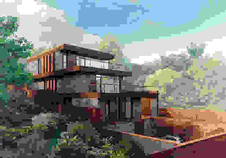 FLYING house / Частный дом в МО на берегу водохранилища: Дома в . Автор – BOOS architects,