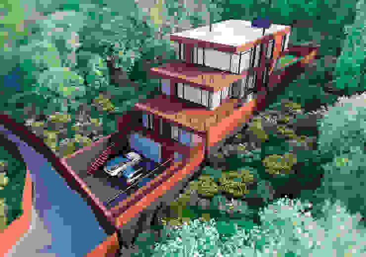 FLY house / Частный дом в МО на берегу водохранилища: Дома в . Автор – BOOS architects,