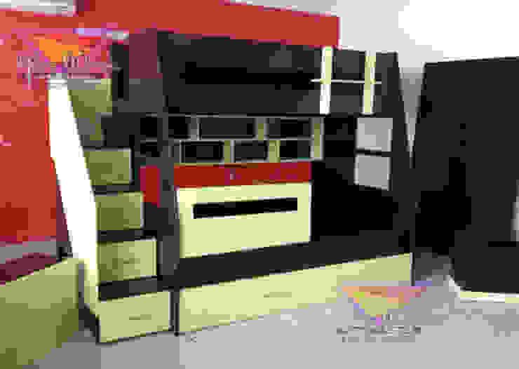 Fabulosa litera en color chocomenta de camas y literas infantiles kids world Moderno Derivados de madera Transparente