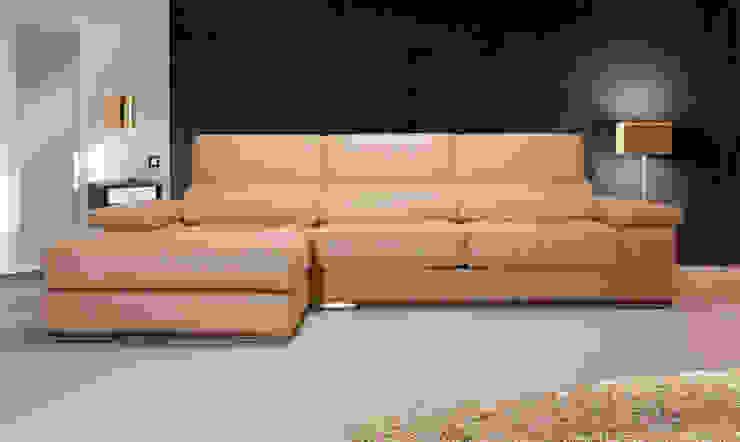 de estilo  por Vittello - Sofás de Diseño, Minimalista Piel  Gris