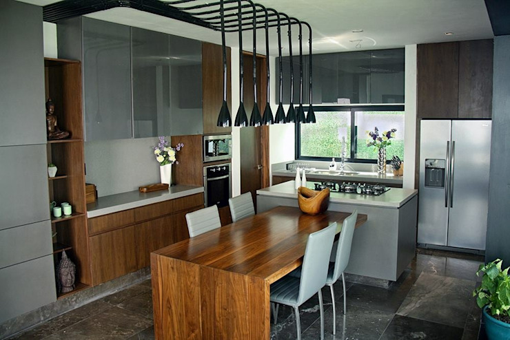Industrial style kitchen by Narda Davila arquitectura Industrial