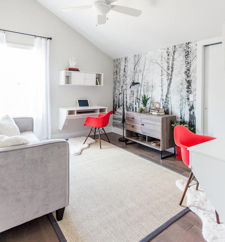 Urban Retreat Modern Study Room and Home Office by Brett Nicole Interiors Modern