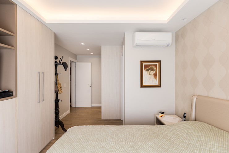 ECP | Suíte Casal Quartos minimalistas por Kali Arquitetura Minimalista