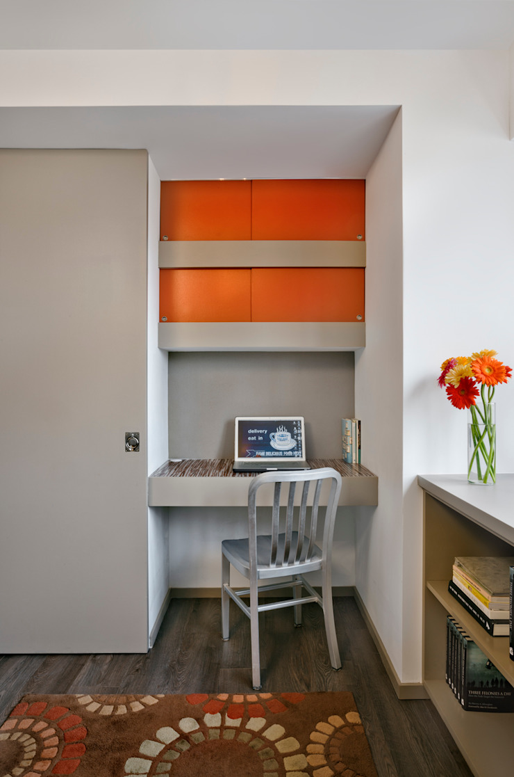 Multi generational familty unit Modern Study Room and Home Office by Rodriguez Studio Architecture PC Modern
