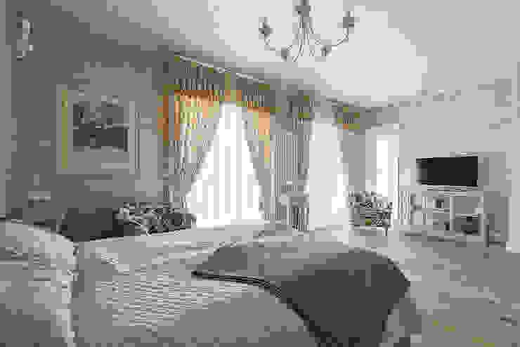 Спальня гостевая от Эдуард Григорьев (daproekt) Кантри Дерево Эффект древесины
