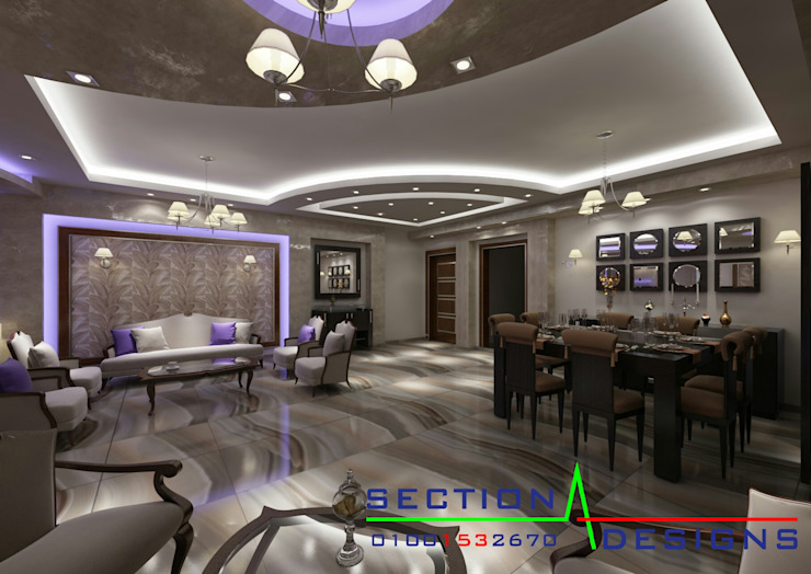 現代房屋設計點子、靈感 & 圖片 根據 section designs 現代風