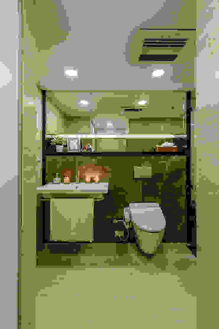 盛裝蓊鬱 現代浴室設計點子、靈感&圖片 根據 爾聲空間設計有限公司 現代風 大理石