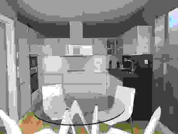 GLASS WHITE Cocinas modernas de DISEÑO COCINA Moderno Vidrio