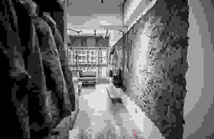 竹東 PC House 丰墨設計 | Formo design studio 工業風的玄關、走廊與階梯