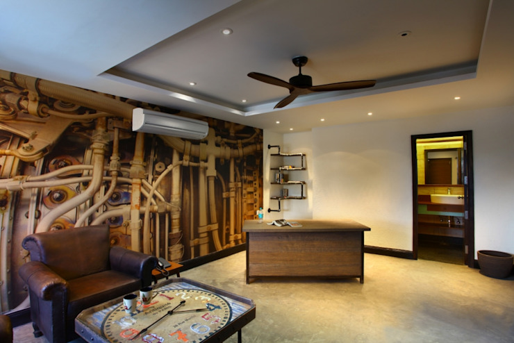 Eclectic style corridor, hallway & stairs by groupDCA Eclectic