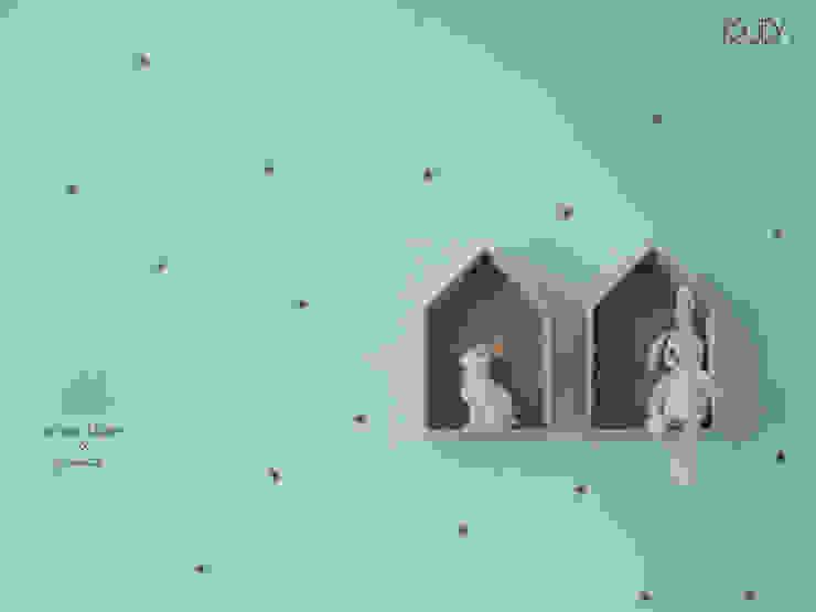 Cuartos infantiles de estilo escandinavo de MUDA Home Design Escandinavo