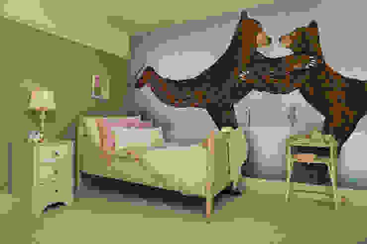 'Coworking' Bear Wallpaper Chambre d'enfant moderne par Wallsauce.com Moderne