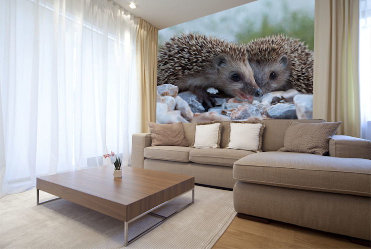 Animal Wallpapers Salon moderne par Wallsauce.com Moderne