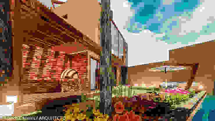 CASA JONES – PROYECTO Jardines de estilo moderno de FRANCO CACERES / Arquitectos & Asociados Moderno