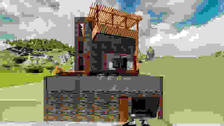 CASA JONES – PROYECTO Anexos de estilo moderno de FRANCO CACERES / Arquitectos & Asociados Moderno