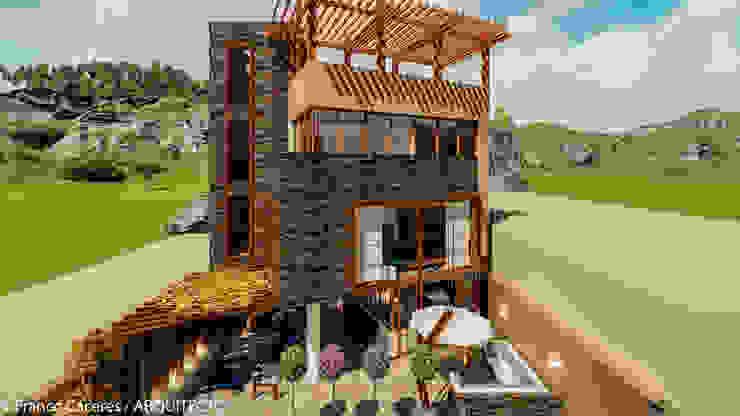 CASA JONES - PROYECTO: Casas de estilo  por FRANCO CACERES / Arquitectos & Asociados,