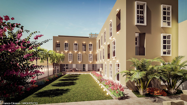 HOTEL BOUTIQUE BARRANCO – LIMA Casas de estilo colonial de FRANCO CACERES / Arquitectos & Asociados Colonial