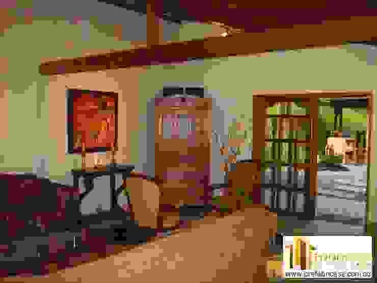Casas prefabricadas Cali Salas de estilo rústico de PREFABRICASA Rústico