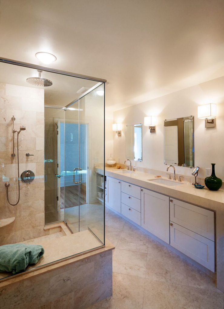 Chandler Project - Master Bathroom Modern Bathroom by New Leaf Home Design Modern