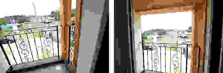Classic style balcony, veranda & terrace by 지성하우징 Classic