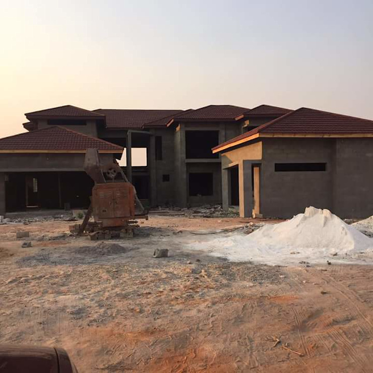 Roofing Stage- Home Almost Complete Modern houses by homify Modern Concrete
