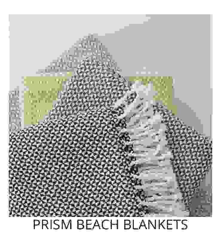PRISM BEACH BLANKETS: modern  by Blake Matthew Design, Modern Cotton Red