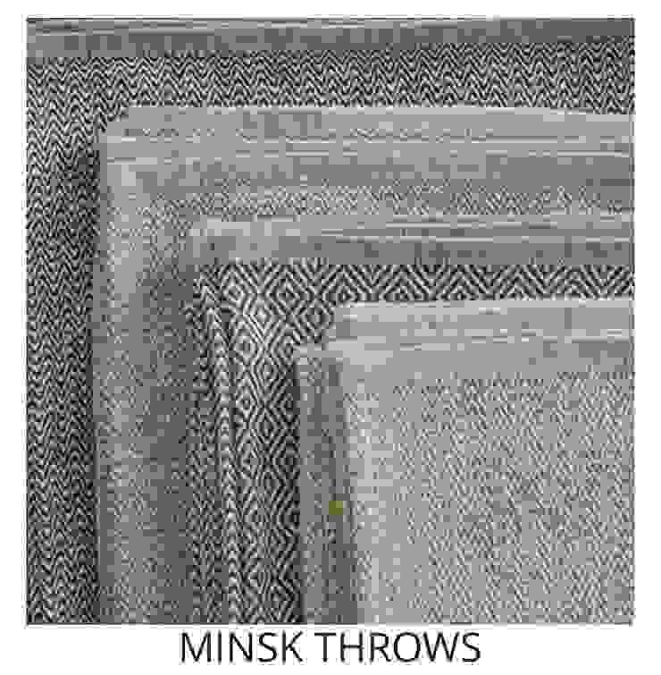 MINSK THROWS: modern  by Blake Matthew Design, Modern Cotton Red