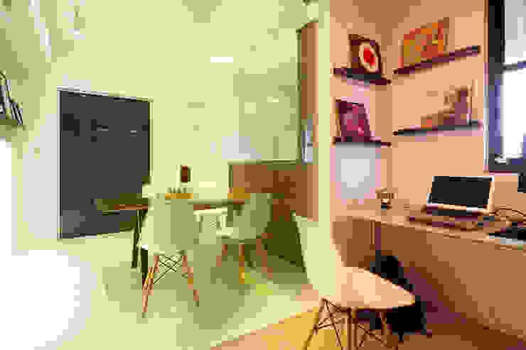 Industrial style study/office by 双設計建築室內總研所 Industrial