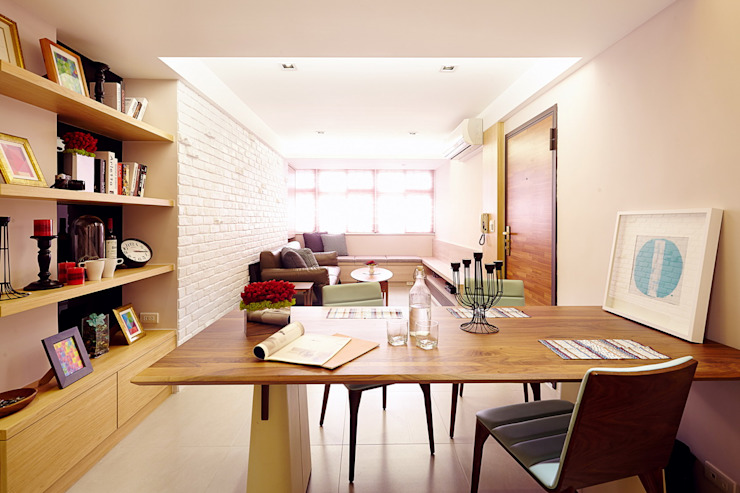 Scandinavian style dining room by 双設計建築室內總研所 Scandinavian