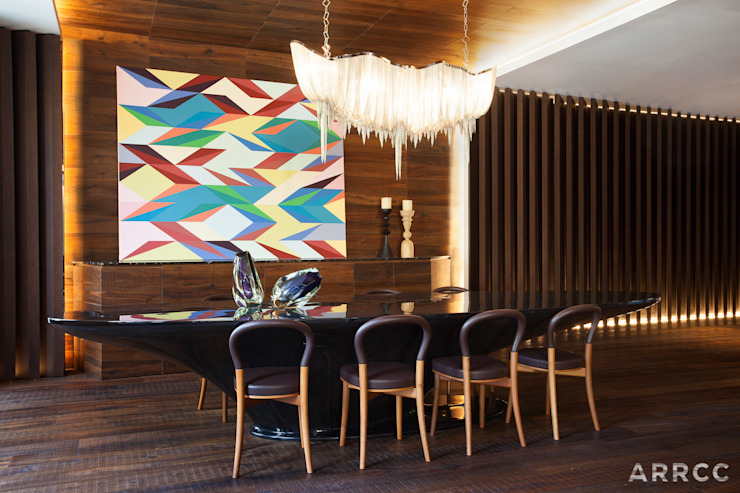 Barcelona Apartment:  Dining room by ARRCC