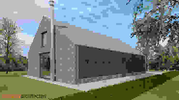 Schuurwoning Meppel Minimalistische huizen van Koezen Architecten Minimalistisch