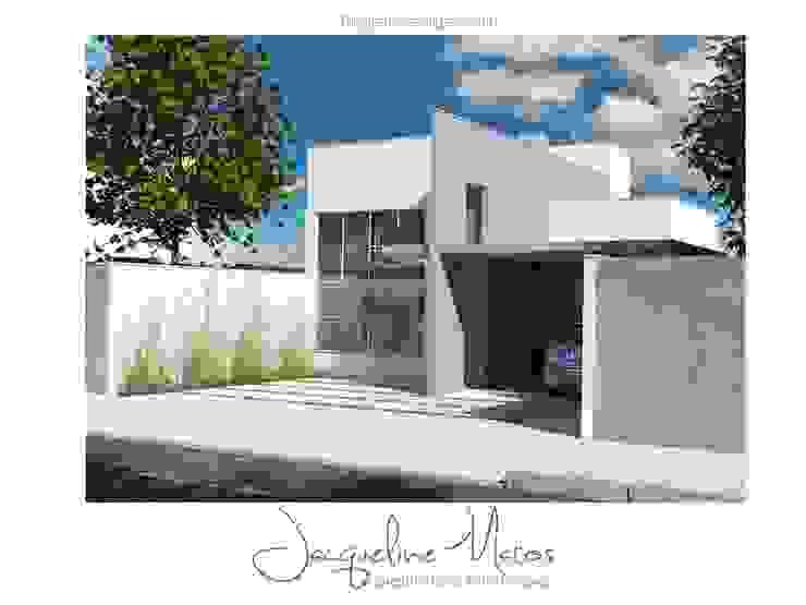 Casa Moderna Casas modernas por Jacqueline Matos Arquitetura e Interiores Moderno Concreto