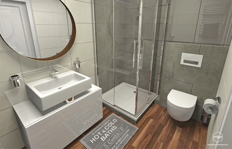 Bathroom by Pracownia Projektowa MOJE,