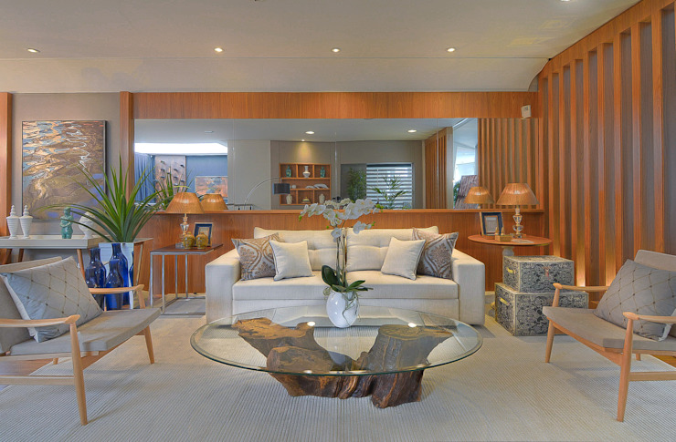 Livings de estilo moderno de Sgabello Interiores Moderno Madera Acabado en madera